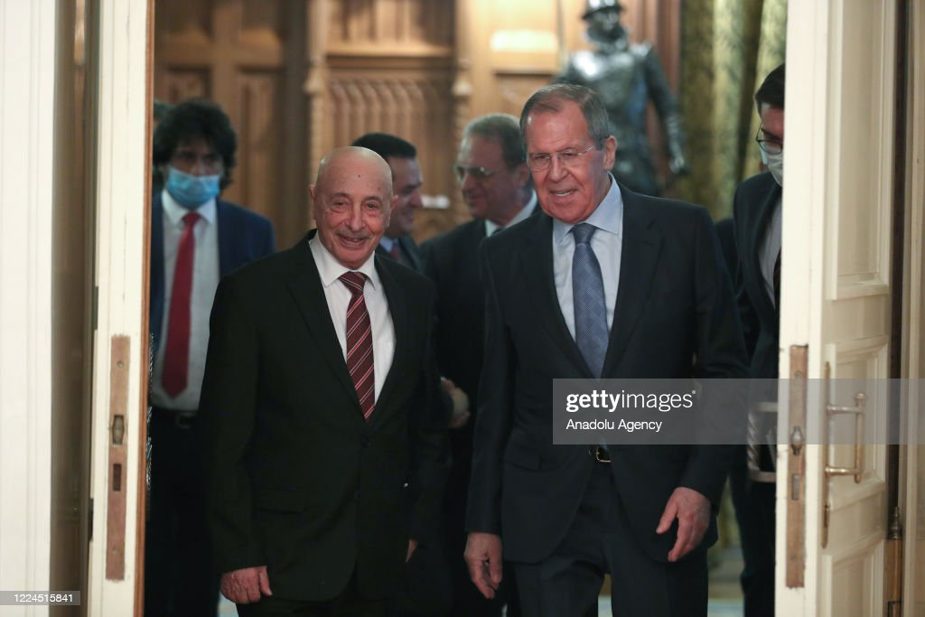Russian FM Lavrov meets Aguila Salih in Moscow : News Photo
