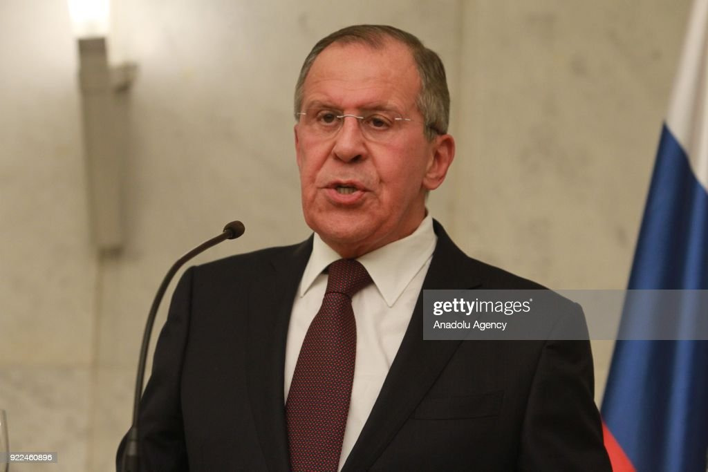 Sergey Lavrov - Aleksandar Vucic joint press conference in Belgrade : ニュース写真