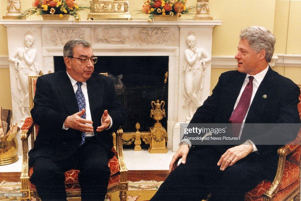 Primakov & Clinton In The White  House : Nieuwsfoto's