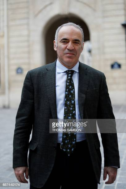Russian former World Chess Champion Garry Kasparov poses on March 24 2017 in Paris Former world chess champion Russian Garry Kasparov wants to train...