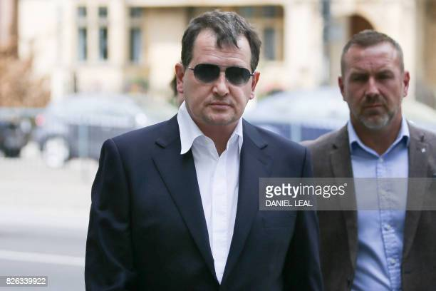 Russian Georgy Shuppe the former soninlaw of Russian billionaire Boris Berezovsky arrives at Westminster Magistrates Court in central London on...