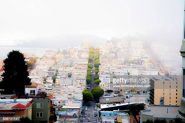 russian hill - lombard street san francisco stock pictures, royalty-free photos & images