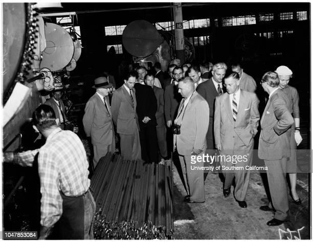 Russian housing delegation 18 October 1955 Bert Given IK KozuiliaVladimir PojidaeffMarie GarciaElizabeth HareHenry SnyderWalter W KeusderNP LysenkoAF...