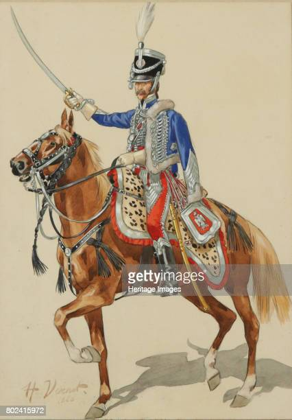 Russian Hussar Raising his Sabre Private Collection