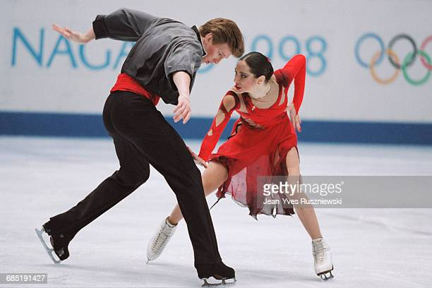 Russian ice dancers Anjelika Krylova and Oleg Ovsiannikov at the 1998 Winter Olympics