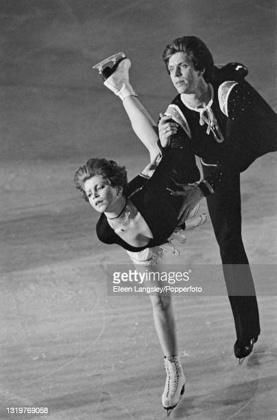 Russian ice dancers Natalia Bestemianova and Andrei Bukin perform for the Soviet Union in an ice dance routine as part of the World Tour Gala at...