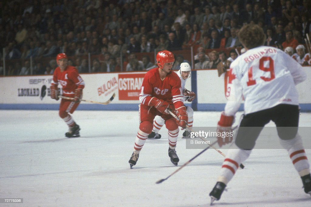 USSR Vs. Canada In 1981 Canada Cup : News Photo