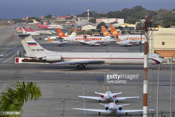 Russian Ilyushin Il-62M Air Force plane, one of the two Russian military planes that arrived with troops and equipment to Venezuela over the weekend,...