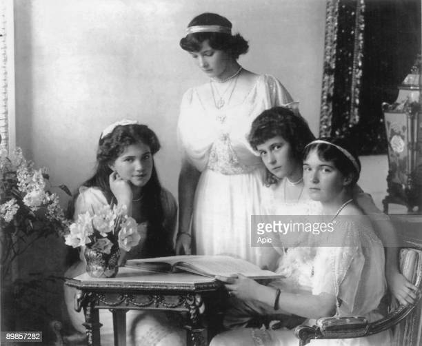 Russian imperial family Grand Duchess daughters of czar Nicolas II of Russia lr Maria Olga Tatiana Anastasia c 1914