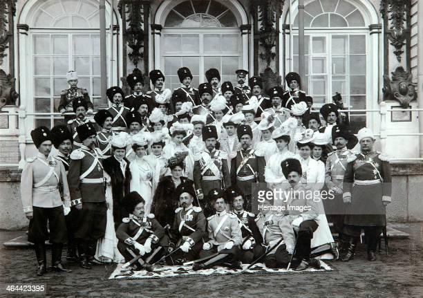 Russian Imperial family outside the Catherine Palace Tsarskoye Selo Russia early 20th century Tsar Nicholas II of Russia and Tsarina Alexandra...