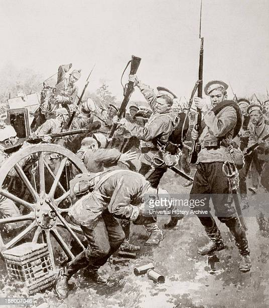 Russian Infantry Attacking The German Lines With A Bayonet Charge Between Korschen And Bartenstein Eastern Prussia August 1914 During The First World...
