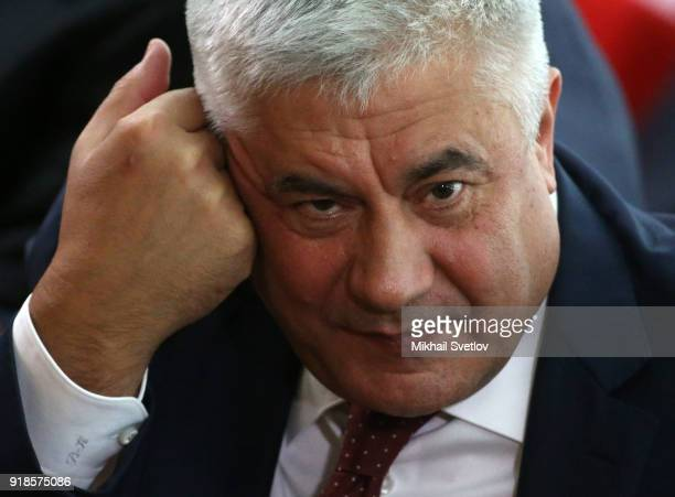 Russian Interior Minister Vladimir Kolokoltsev attends the meeting of the Extended Board of the Prosecutor General's Office on February 15 in Moscow...