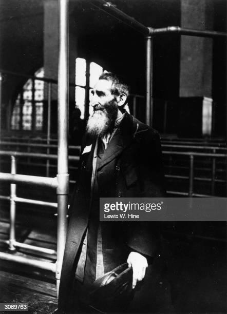Russian Jew arriving at Ellis Island, New York.