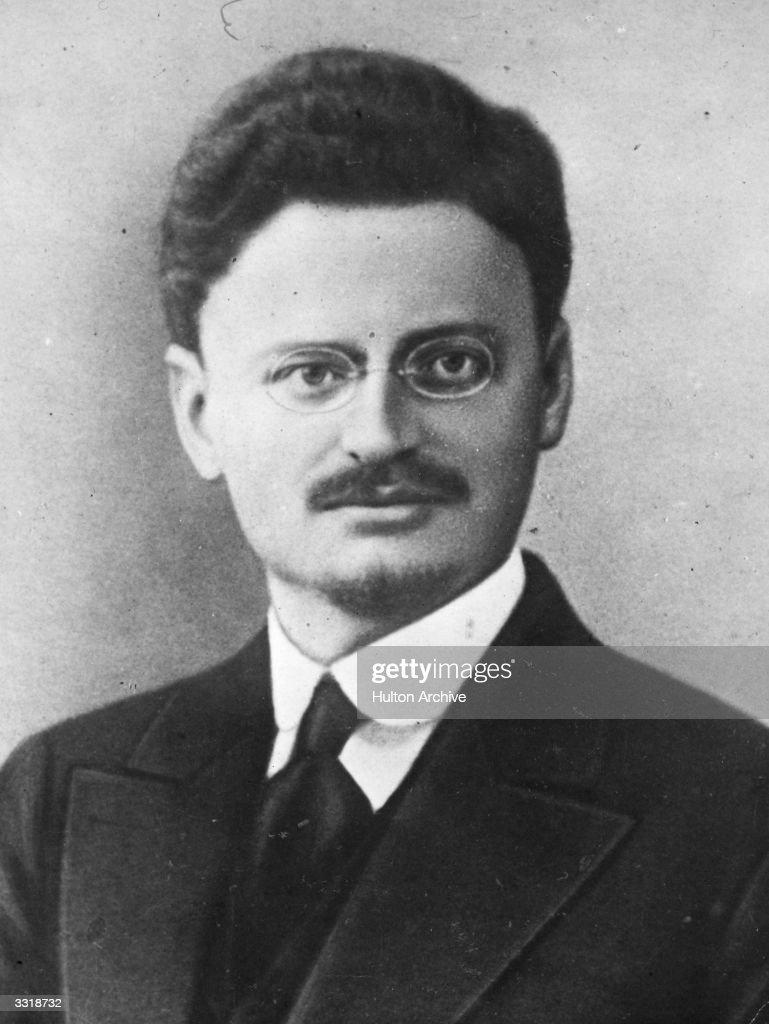 Russian Jewish revolutionary Leon Trotsky (1879 - 1940), pseudonym of Lev Davidovich Bronstein. Original Publication: Russian Album
