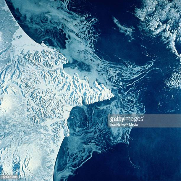 Russian Kamchatka Peninsula from Space