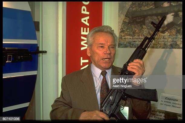 Russian Lieutenant General Mikhail Kalashnikov most famous for designing the AK47 assault rifle the AKM and the AK74