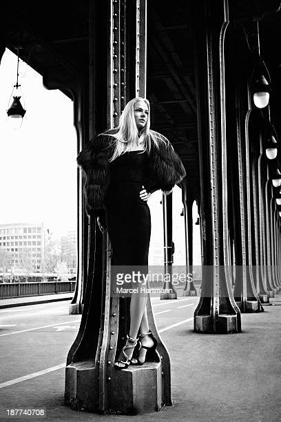 Russian long jumper and model Darya Klishina is photographed for Sport style on March 14 2013 in Paris France