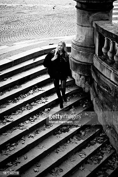 Russian long jumper and model Darya Klishina is photographed for Sport & style on March 14, 2013 in Paris, France.