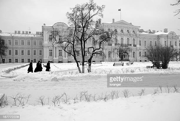 académie militaire russe en hiver - russian military stock pictures, royalty-free photos & images