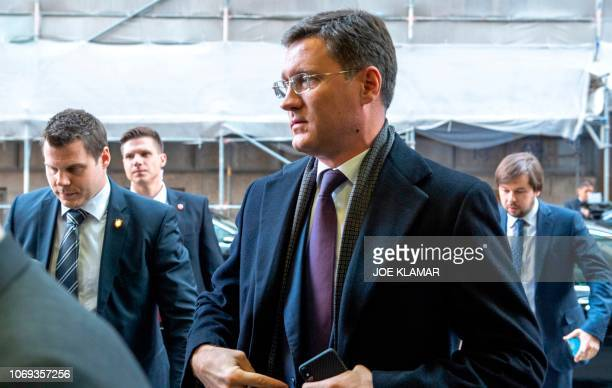 Russian Minister of Energy Alexander Novak arrives at the headquarters of the Organization of the Petroleum Exporting Countries for a ministerial...