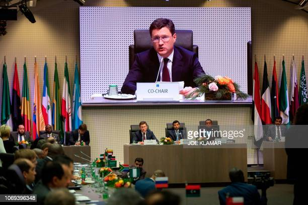 Russian Minister of Energy of Russia Alexander Novak Organization of the Petroleum Exporting Countries' President UAE Energy Minister Suhail...
