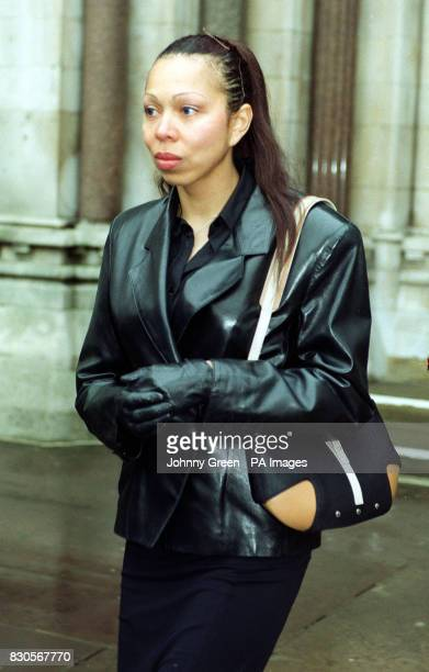 Russian model Angela Ermakova leaves the High Court London after a hearing relating to the 12month old child she shares with the German tennis star...