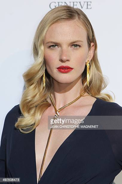 Russian model Anne Vyalitsyna attends the De Grisogono Party during the 67th annual Cannes Film Festival at the Eden Roc hotel in Antibes...