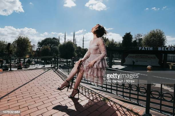a russian model in istanbul - cankurt stock pictures, royalty-free photos & images