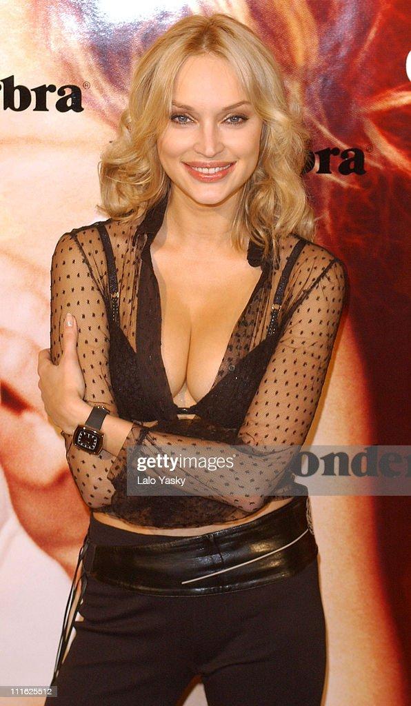 Russian Model Inna Zobova at Promotional Photoshoot for New Wonderbra