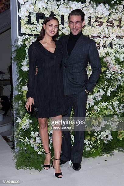 Russian Model Irina Shayk and spanish model Jon Kortajarena attend the 'Intimissimi' 20 Years Anniversary party at the Italian Embassy on November 17...