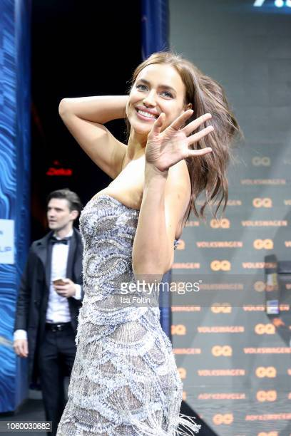 Russian model Irina Shayk arrives for the 20th GQ Men of the Year Award at Komische Oper on November 8 2018 in Berlin Germany