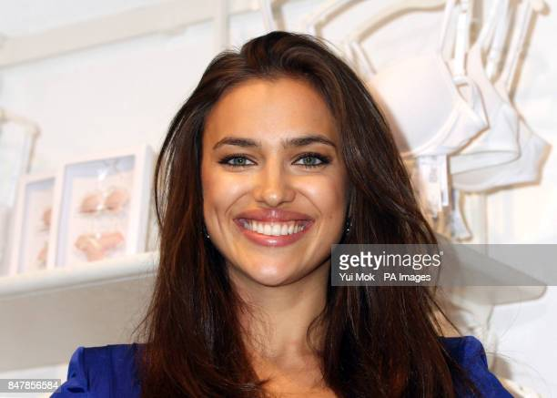 Russian model Irina Shayk at the launch of the Intimissimi Perfect Bra Collection at Intimissimi on Oxford Street central London