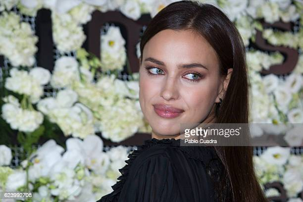 Russian Model Irina Shayk attends the 'Intimissimi' 20 Years Anniversary party at the Italian Embassy on November 17 2016 in Madrid Spain