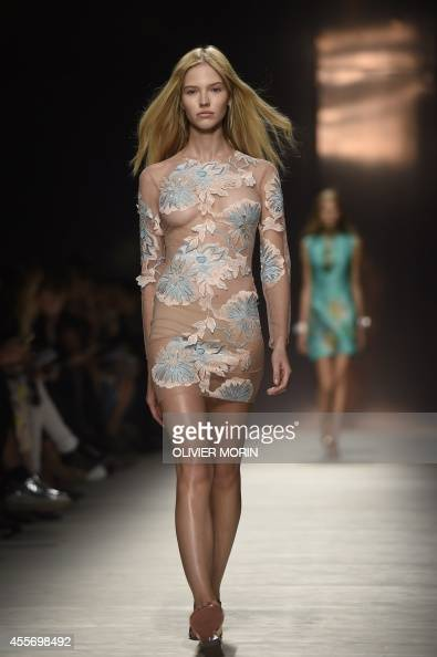 Russian model Sasha Luss presents creations from the
