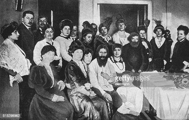 Courtiers of the Russian Czar surround the mystic Rasputin