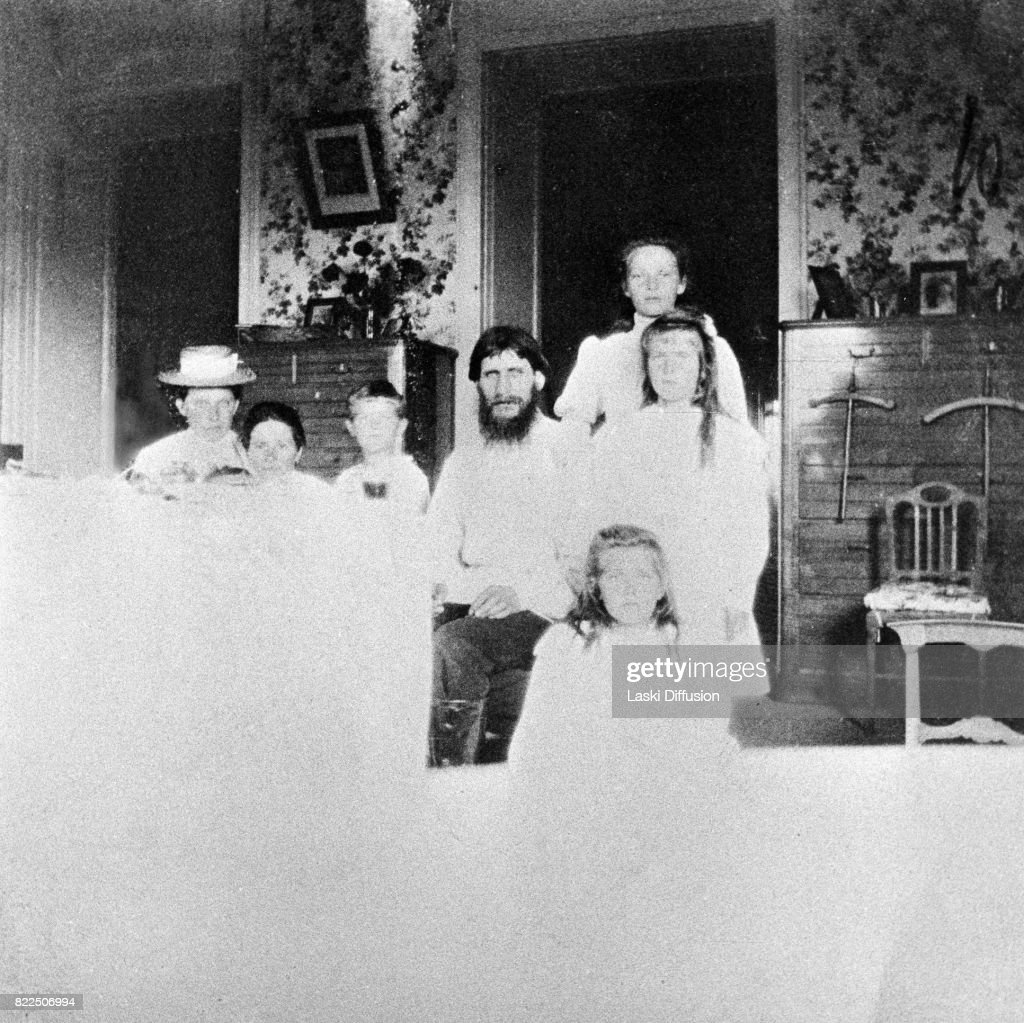 Grigori Rasputin and the Romanov family : News Photo