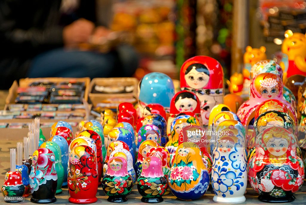 Russian nesting doll : Stock Photo