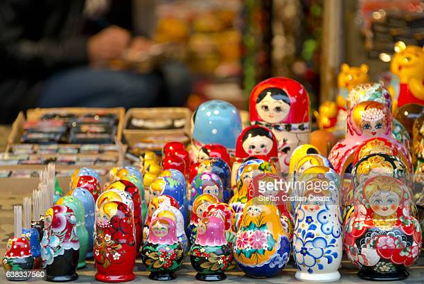 russian nesting doll - russian culture stock pictures, royalty-free photos & images