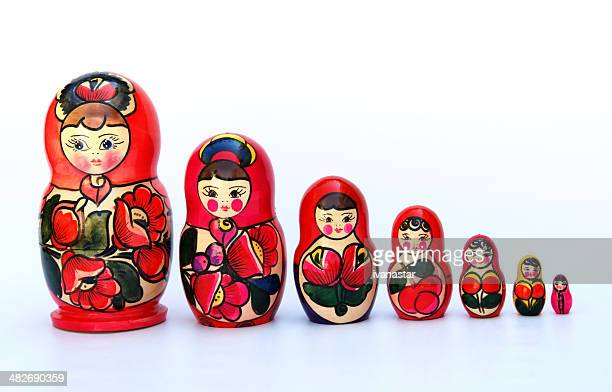 Bambole russe di nidificazione anche noto come Babushkas