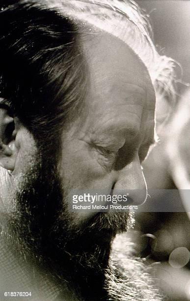 Russian novelist dramatist and historian Alexander Solzhenitsyn