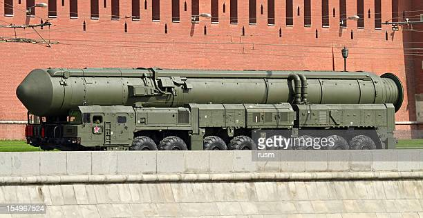 russian nuclear missile topol-m near the kremlin - explosives stock photos and pictures
