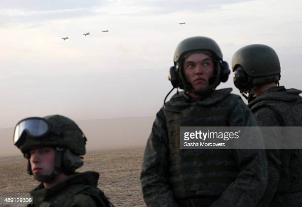 Russian officers are watching to the Center -2015 Military Drills at Donguzsky Range in Orenburg, Russia, September 2015. Putin said this week that...