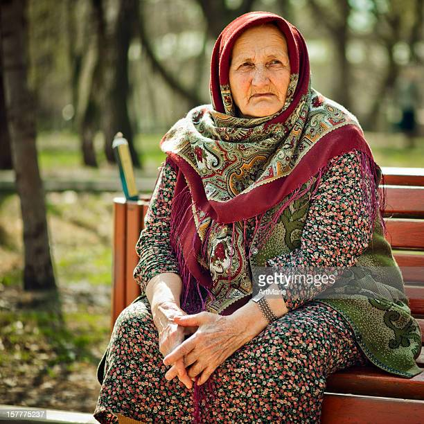 russian old lady - russian culture stock pictures, royalty-free photos & images