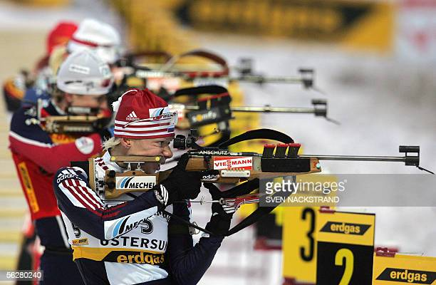 Russian Olga Zaitseva makes a standing shooting on her way to win the World Cup Biathlon, womens 10 km Pursuit in Oestersund, Sweden, 27 November...
