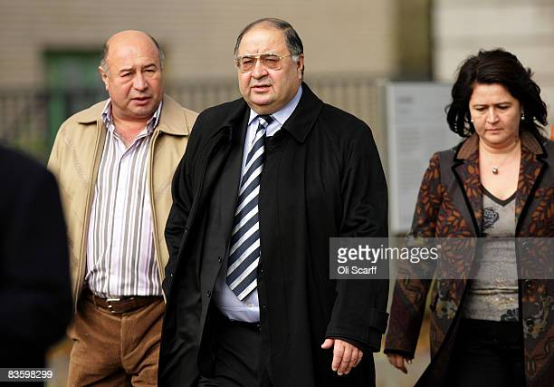 Russian Oligarch Alisher Usmanov leaves the Tate Britain art gallery on November 7 2008 in London England The Pushkin Museum in Moscow is hosting a...