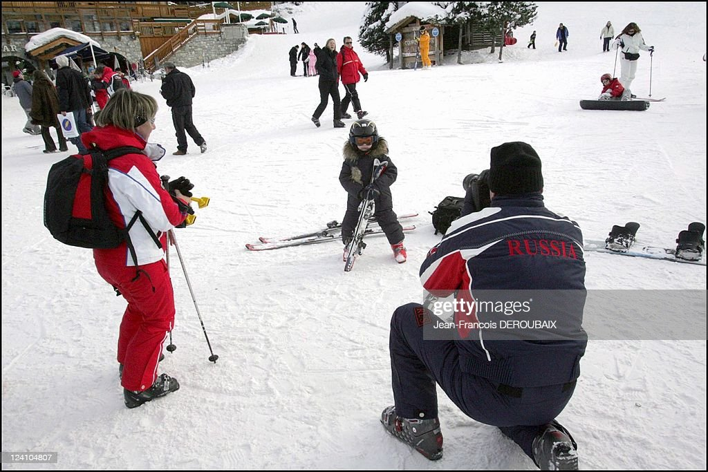 Russian Oligarchs In Courchevel, France On January 06, 2006. : News Photo