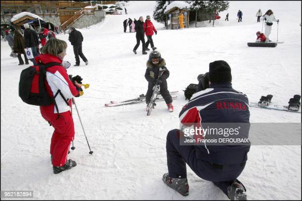 Russian oligarchs take opportunity of their children's schol breaks to spend without counting in the French skiing resort of Courchevel Their...