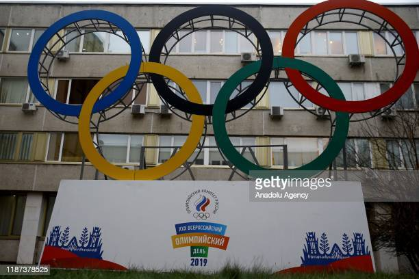 Russian Olympic Committee building is seen in Moscow Russia after The World AntiDoping Agency handed a fouryear ban to Russia for major sporting...