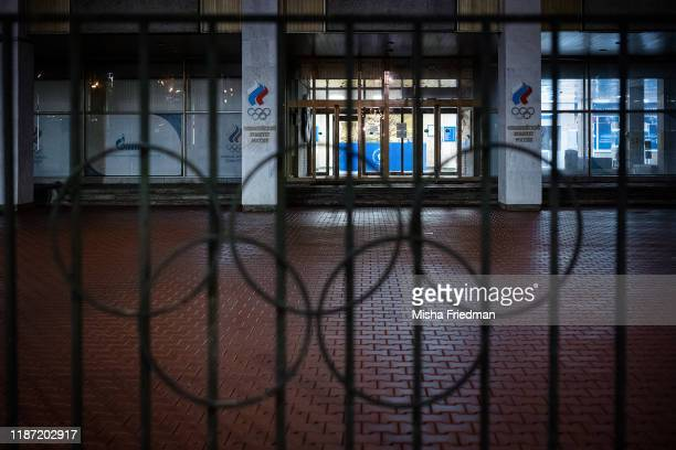 Russian Olympic Committee HQ on December 5 2019 in Moscow Russia The World AntiDoping Agency executive committee will vote on Monday whether to ban...