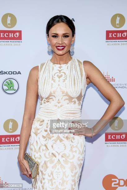 Russian opera singer Aida Garifullina arrives for the Echo Klassik 2015 classical music awards in Berlin Germany 18 October 2015 PHOTO CLEMENS...